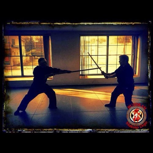 bujinkanmakotodojo:  Bujinkan Yari Training (Taken with instagram)