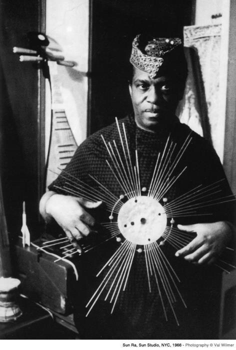 Happy Birthday Sun Ra (Herman Poole Blount May 22, 1914 - May 30, 1993) Free-jazz & afrofuturism pioneer Sun Ra (the moniker 'Ra' taken from the eponymous Egyptian sun god), declared himself a messianic saviour and whose aesthetic was the first example of a black musician overtly appropriating sci-fi iconography. For him, Sun Ra was an alien abductee – and, through the prism of the African diasporic experience, so was every black American in a literal sense. Meanwhile the Egyptians – an eon-ruling race of beautiful and technologically-advanced African aristocracy – represented supremacy and a recaptured empire.