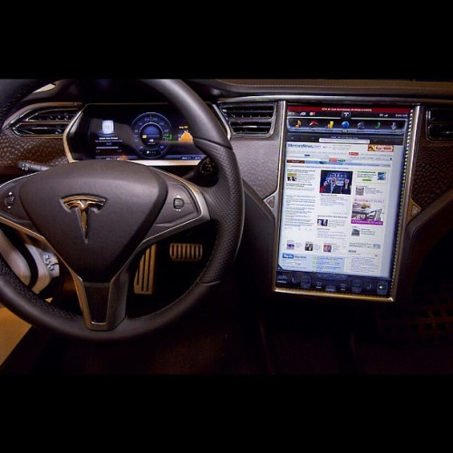 Inside the new #Tesla Model S coming soon… (Taken with instagram)