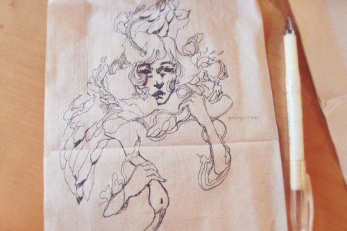Table napkin doodle. *u* More photos.