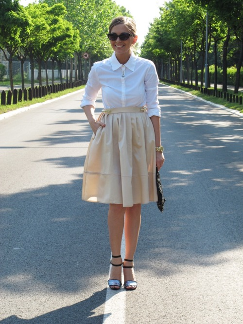 silk skirt with golden spikes …  How do you sparkle? Show us here and you may be featured on our Tumblr.