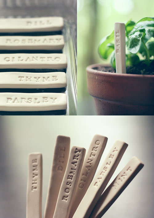 DIY Garden Markers via Wit and Whistle