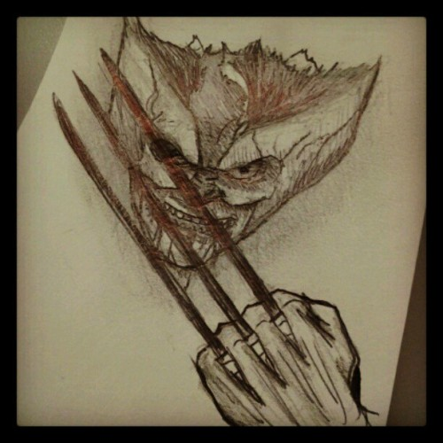 Messed up Wolverine sketch. Follow me on Instagram: DOOMCMYK I post all my latest sketches there first.