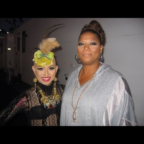 Not only is she talented but super sweet!  @iamqueenlatifah and I at #longbeachpride :).  (Taken with instagram)