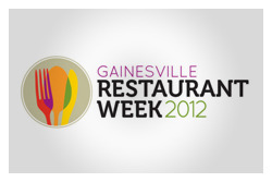 Gainesville Restaurant Week 2012 Logo designed for Gainesville Restaurant Week 2012. Presented by the Gainesville Area Chamber of Commerce.