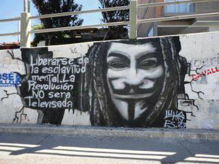 http://twitpic.com/9o20jk #Anonymous #Graffiti is an international phenomena spreading #Revolution globally