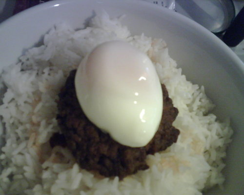 By the way, egg was poached in a mug, using my microwave. :-)