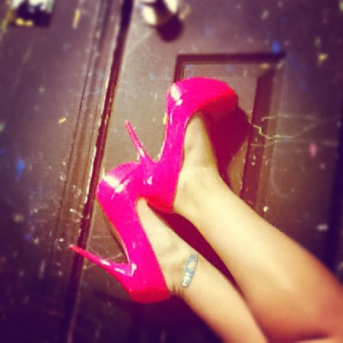 May 22nd: Pink.. #heels #loveofmylife #love #platforms #getyousome (Taken with instagram)