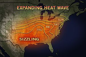 accuweather:  Memorial Day Weekend Heat Wave Break out the fans and air conditioners and get the pools ready as Mother Nature has a stretch of hot, humid weather just in time for the Memorial Day weekend for portions of the Midwest and East.