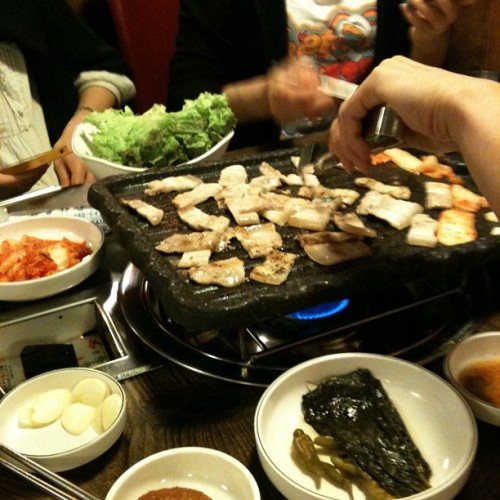 삼겹살!! (Taken with instagram)
