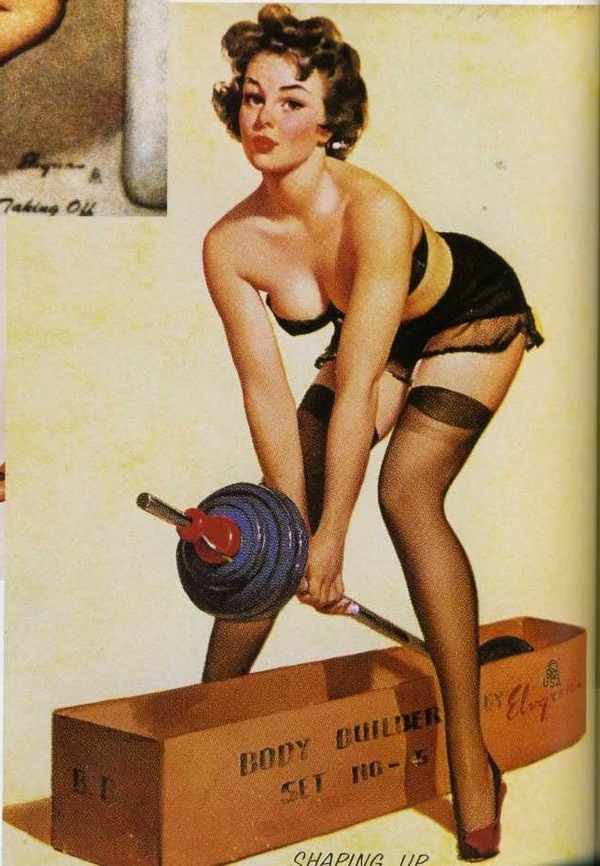 Fitspo from mid 20th century tumblr