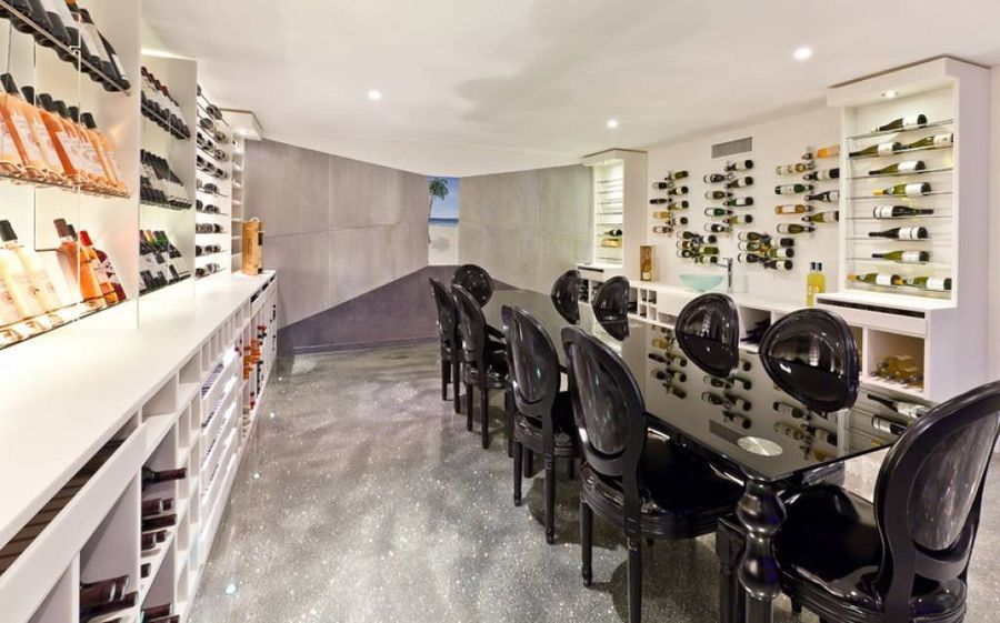 As wine cellars come this is pretty special! It can be found in this 5 bedroom contemporary residence in the heart of a small peaceful private domain in Villefranche Sur Mer.