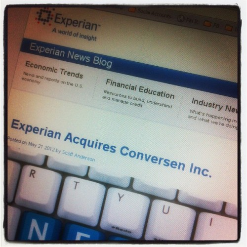 Experian acquires Conversen http://ex.pn/conversen (Taken with instagram)