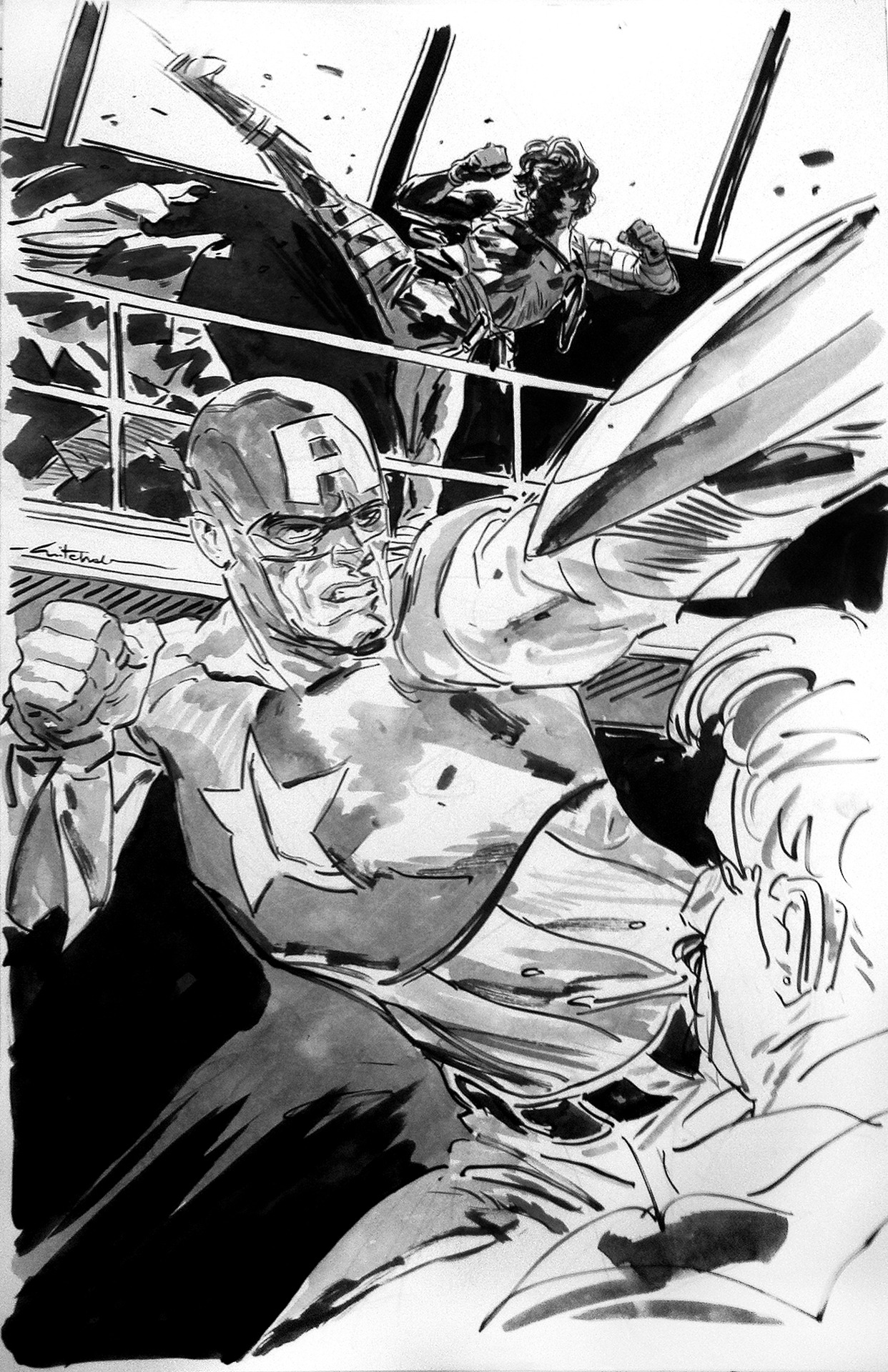 A selection of my Dallas commissions. Lots of #CaptainAmerica related art goodies!