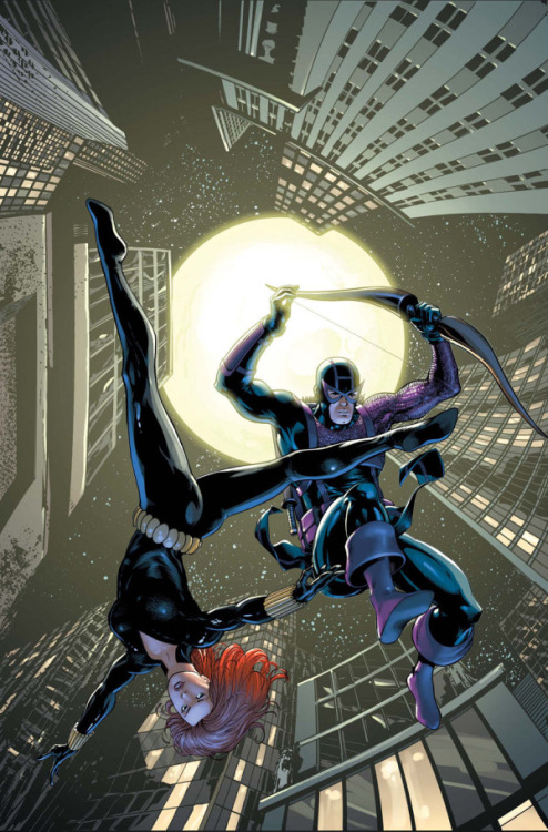 ladman:  Black widow and Hawkeye By Barry Kitson