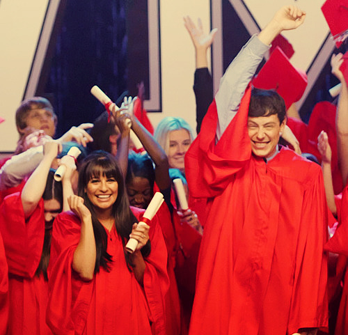 Finchel at Graduation