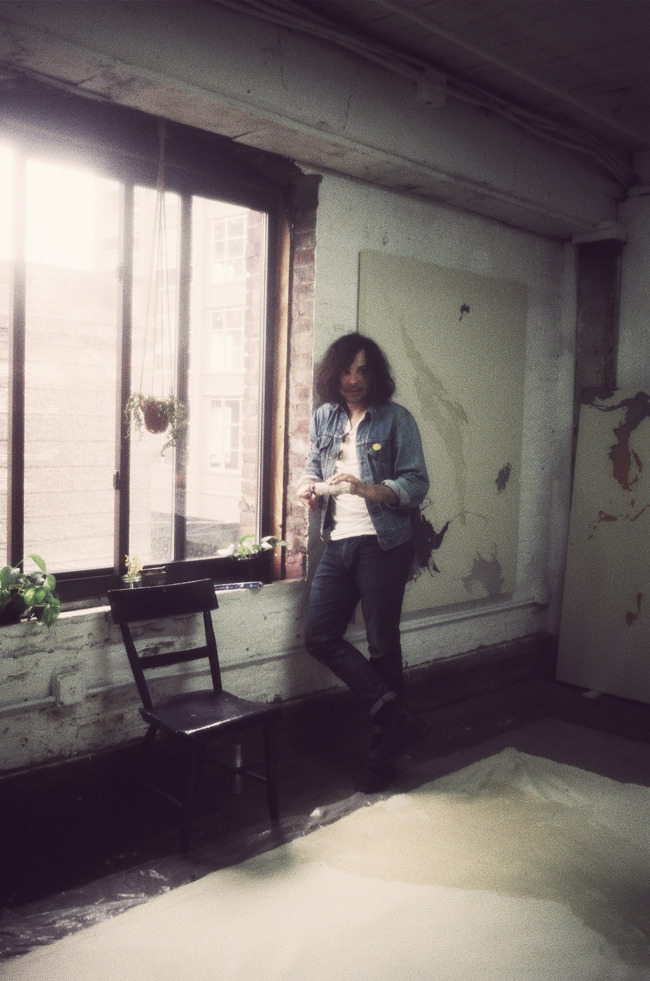 Landon Metz in his Brooklyn studio 2012