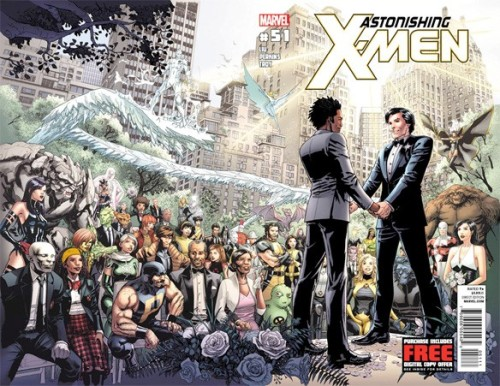 Northstar of the X-Men Proposes To His Boyfriend In This Week's 'Astonishing X-Men' #50 By Chris Sims This week, Marvel has once again requested the honor of your presence at the wedding of two characters, and while a super-hero marriage is always a pretty big affair, this one is going a little further. In tomorrow's Astonishing X-Men #50, Marjorie Liu and Mike Perkins are telling the story of Northstar's proposal to his long-time boyfriend Kyle, with a wedding set to follow in next month's issue. Read more.