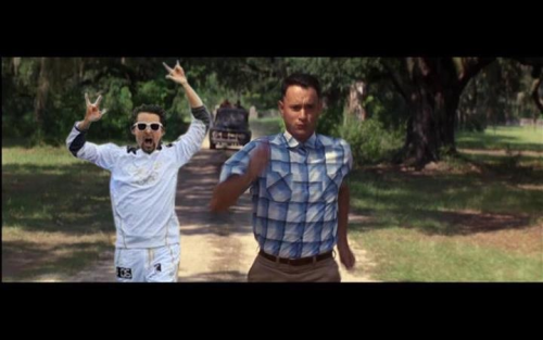 Matt running with Forrest Gump :L
