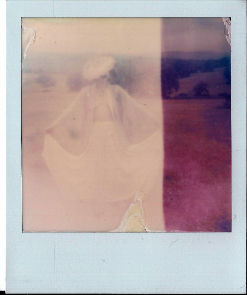 Lily on Indian Burial Grounds.    Polaroid PX70 PUSH! Film    Goodship Photography.