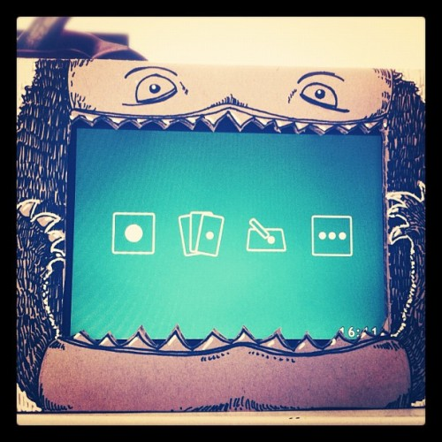 This is my monster frame! Nghum nghum nghum. (Taken with instagram)
