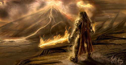 The Fire Lord: Surt by ~JoeCool42  (C) Matthew Ross Crafton 2012