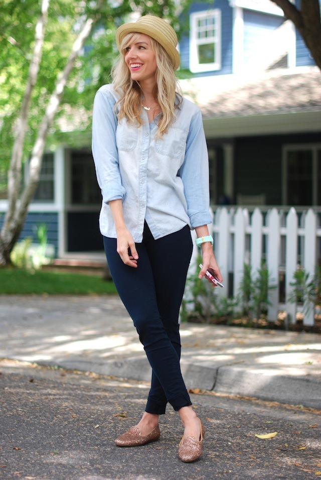 modcloth:  Love this blue on blue look from Sterling Style.