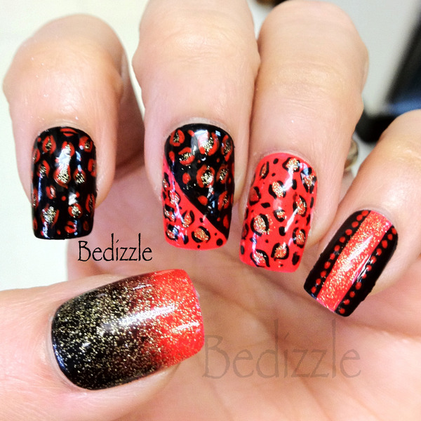 Would you rock these leopard nails?