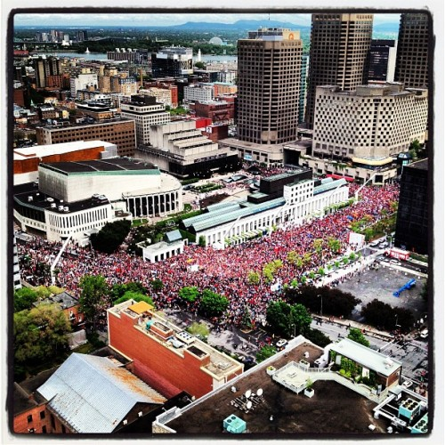 Photo by @philmphoto instagr.am Protests on Day 100 of the Quebec student conflict live tweets/blog: montrealgazette