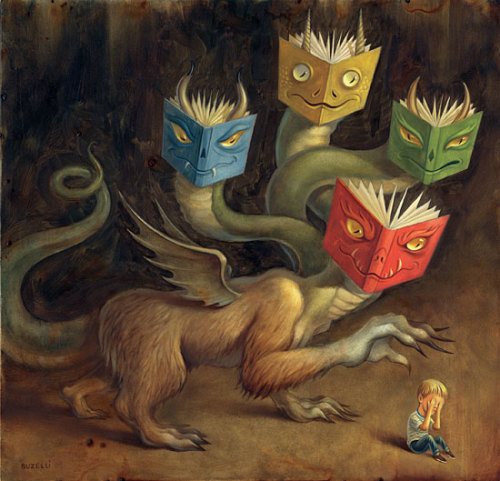 jenvaughnart:  A wonderful Chris Buzelli #illustration – Book Monsters!