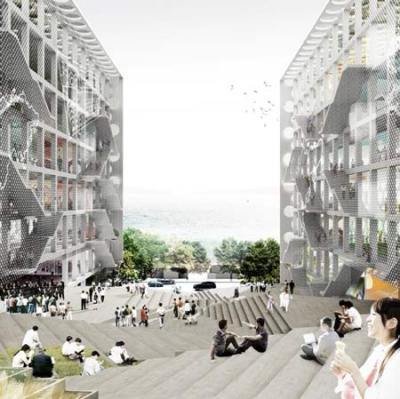 "Chu Hai Campus - OMA Rem Koolhaas this reminds me of the ""unknown place"" (via dezeen.com)"