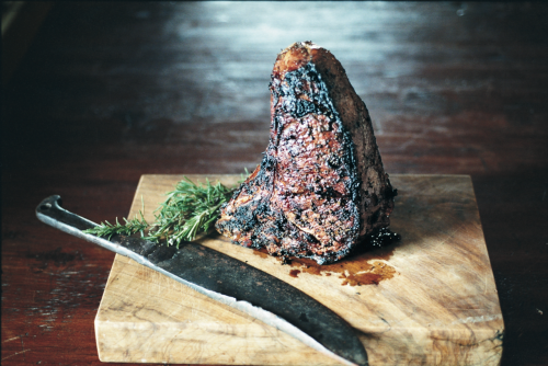 © Marie Hennechart Balsamic and Rosemary-Marinated Florentine Steak Recipe Contributed by Matt Molina Click here for full recipe   The knife is underrated