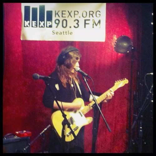 Bethany Cosentino of Best Coast, in the KEXP studios, 5/22/2012 photo via the KEXP Instagram