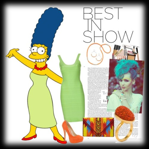 Marge Simpson Best In show Style by zairesheppard featuring high heel pumps