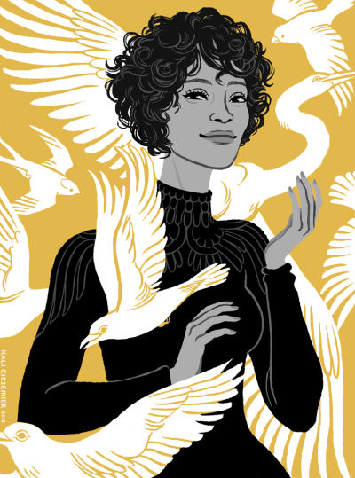 kalidraws:  Whitney Houston, for the Grantland Quarterly! (to accompany this article) More on my blog.