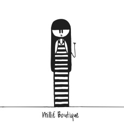 My friends are constantly talking about the Millié Boutique… so I thought Id draw something a little Millié-inspired for them. Hope you like it! This one's for you, Layla ;)