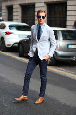 filippocirulli:  I was wearing: Philip shoes by 59Bond st.  Polo Ralph Lauren shirt Paoloni jacket Ysl tie