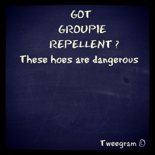 got Groupie Repellent? These hoes are dangerous #tweegram  (Taken with instagram)