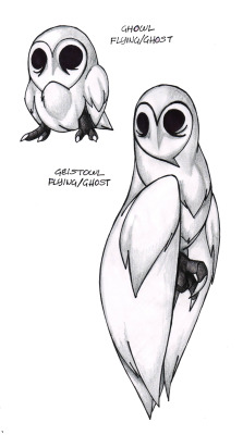 fantasticfakemon:  So creepy, but so awesome. Ghowl —> Geistowl Source.