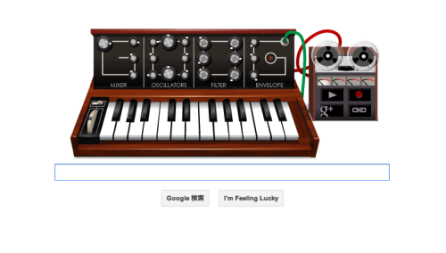 createthegroup:  Happy Birthday Robert Moog! Google Japan celebrates the musical pioneer's 78th Birthday