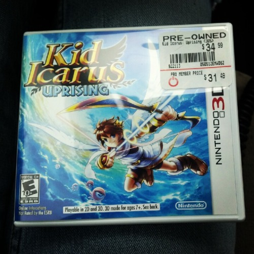 Kid Icarus. I'll be talking about this game the next couple days.