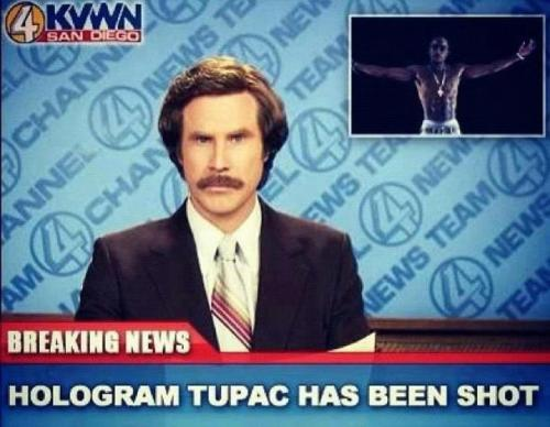 Breaking News: Tupac shot…again.