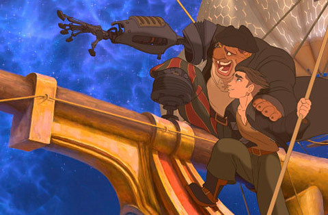 "Treasure Planet, 2002 ""Now, you listen to me, James Hawkins. You got the makings of greatness in you, but you got to take the helm and chart your own course. Stick to it, no matter the squalls! And when the time comes you get the chance to really test the cut of your sails, and show what you're made of! Well, I hope I'm there, catching some of the light coming off you that day."" (John Silver)"