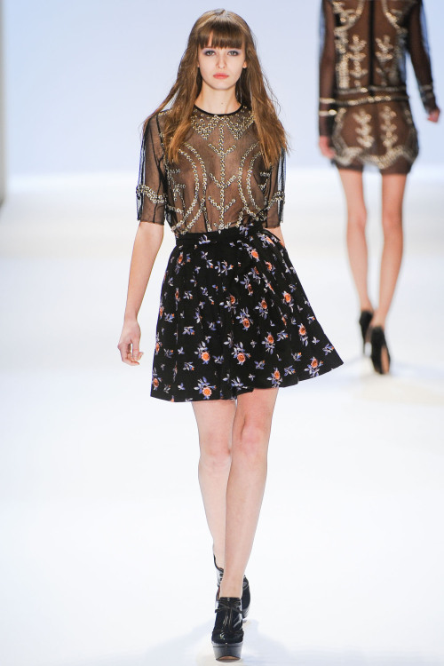 aclockworkpink:  Jill Stuart F/W 2012, New York Fashion Week