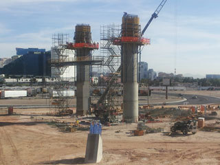SkyVue wheel on Vegas Strip enters second phase With the foundation poured and two massive concrete pillars in place, construction crews on Tuesday began phase two of the 500-foot Skyvue observation wheel project on the Las Vegas Strip. read more