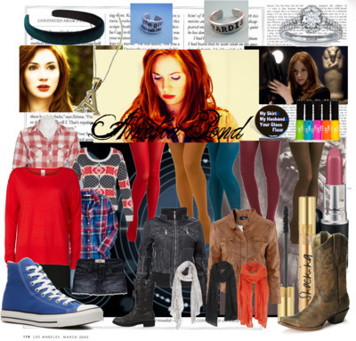 Amelia Pond by saveanimpalarideanangel featuring a neon nail polishPlaid top$36 - amazon.comLeather jacket£30 - owntherunway.comH M genuine leather jacket£30 - hm.comHollister Co cotton skirt$40 - hollisterco.comCheap Monday short mini skirt27 CAD - eluxe.caVila clothe£28 - fashionunion.comBardot opaque hosiery$17 - bardot.com.auMiss Patina mustard tight$15 - modcloth.comTeal tight$15 - modcloth.comRed hosiery$15 - modcloth.comCorey Lynn Calter olive green tight$15 - modcloth.comOld navy$14 - amazon.comAmy Pond Doctor Who 2-Inch Button: My Skirt, My Husband, Your Glass…$2.50 - etsy.comSports trainer$45 - dsw.comLace up boots$30 - amazon.comVintage western boots$10 - sheplers.comBlue nile ring$3,200 - bluenile.comHandcrafted ring$11 - etsy.comAllSaints vintage scarve$95 - allsaints.comJigsaw linen shawl£39 - jigsaw-online.comAnn Harvey floral scarve£15 - houseoffraser.co.ukMimco hair accessorymimco.com.auYves Saint Laurent mascara$30 - yslbeautyus.comNeon nail polish$20 - topshop.comKnitwear El Dorado Drop Hem Jumper15 AUD - jayjays.com.auDoctor Who Inspired - The Girl Who Waited Hand Stamped Aluminum Ring$12 - etsy.com
