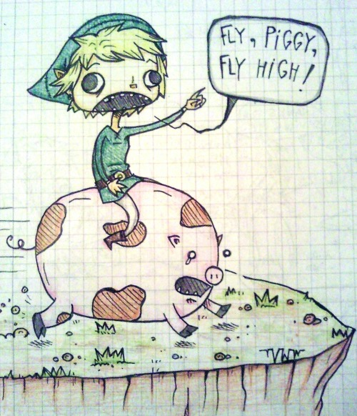 smoking-monkeyslut-from-space:  The Adventures Of Retarted Link. [Part 1]