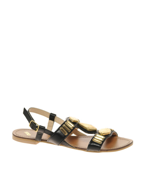 ASOS FLIX Leather Flat Sandals with Deco StonesMore photos & another fashion brands: bit.ly/JgPXRU