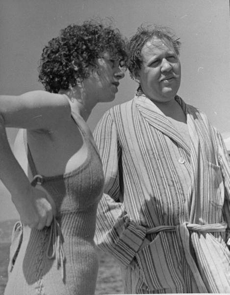 rcmerchant:  Elsa (BRIDE OF FRANKENSTEIN) Lanchester and her hubby Charles (the HUNCHBACK OF NOTRE DAME) Laughton