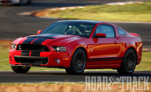 The 2013 Ford Shelby GT500 -  A production Mustang that will exceed 200 mph! (Source: Road & Track)